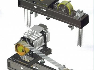 Przykład  montażu wciągarek bezreduktorowych