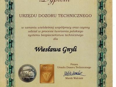 Dyplom od UDT